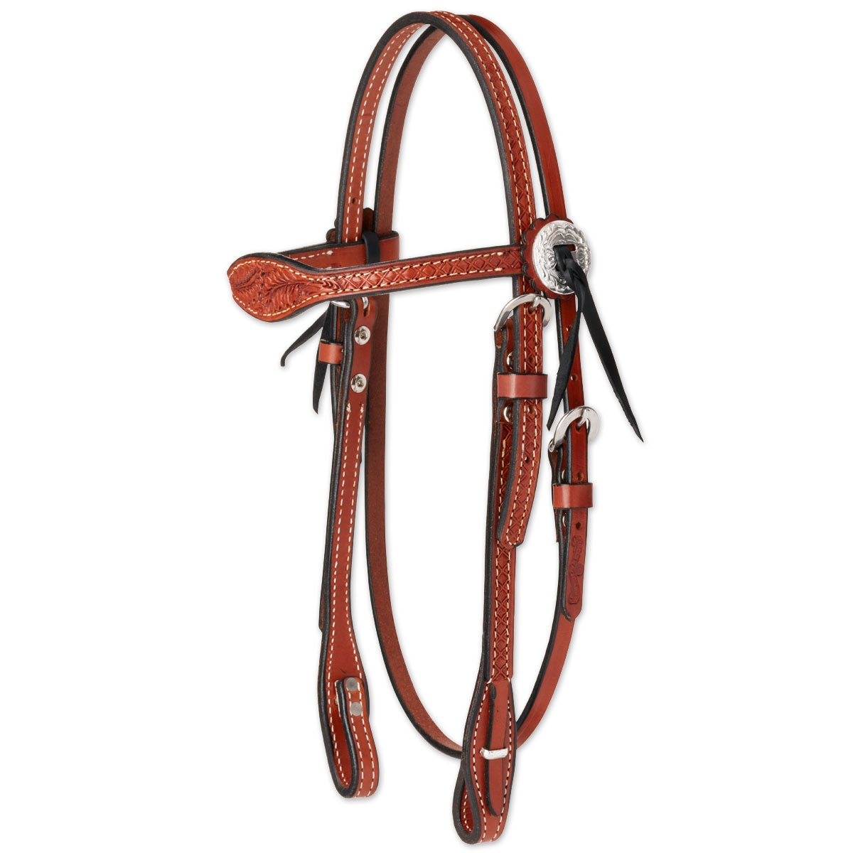 Circle Y Goodnight Floral Combo Browband Headstall
