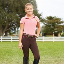 Piper Girls Original Breeches by SmartPak - Knee Patch - Clearance!
