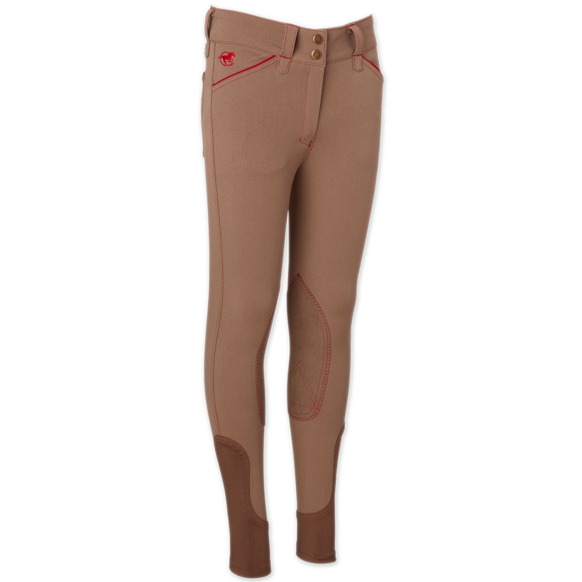Piper Breeches by SmartPak- Girls Knee Patch