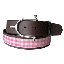 LILO Collections Gingham Spur Belt