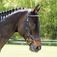 Rambo® Micklem® Diamante Competition Bridle w/ English Leather