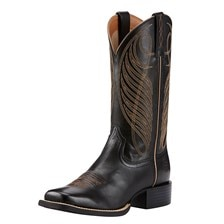 Ariat Women's Round Up Wide Square Toe Boots - Limousin Black