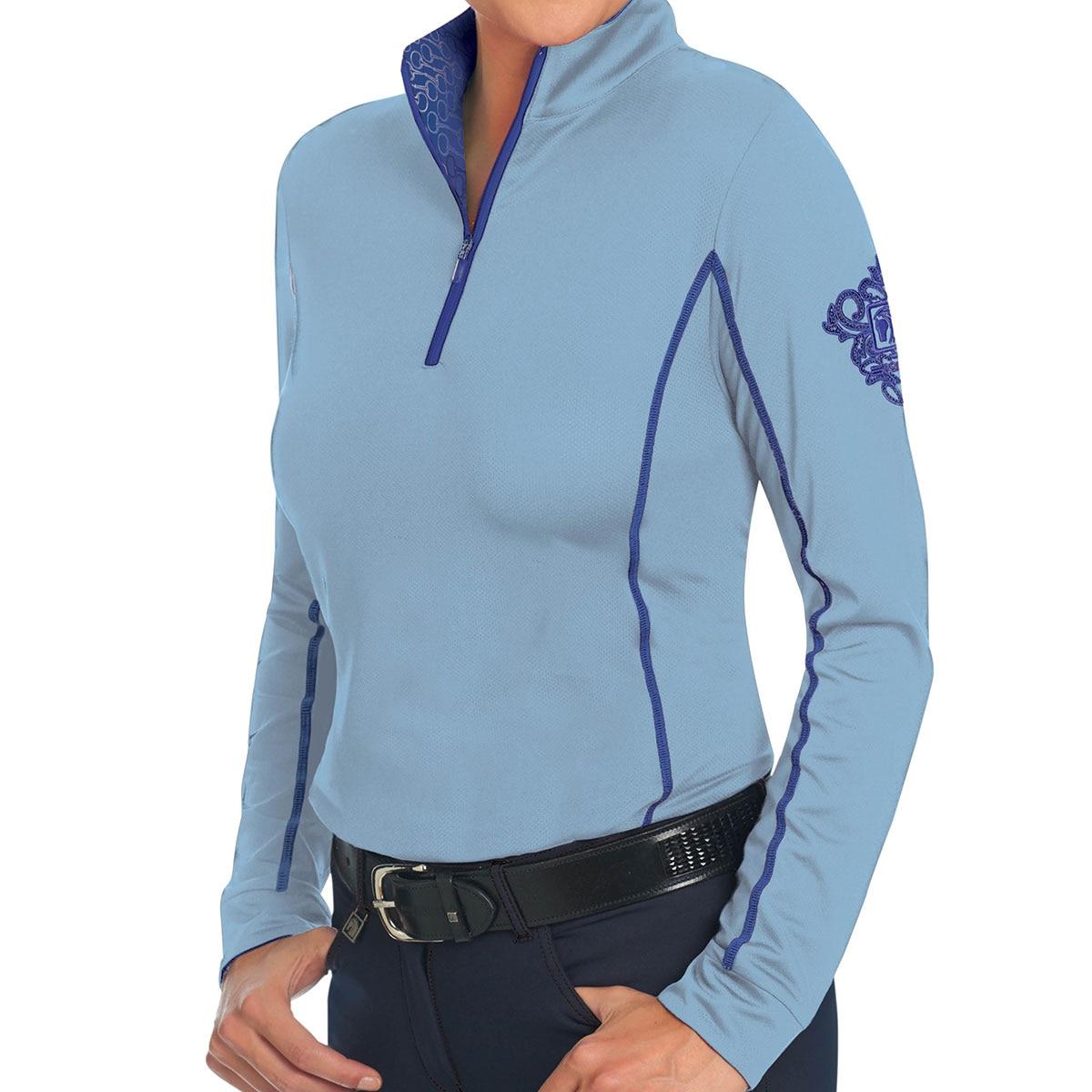New Romfh Chill Factor Ladies Sun Shirt Navy//grey Mist Small