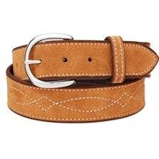 Rebecca Ray Suede Bridle Stitch Belt