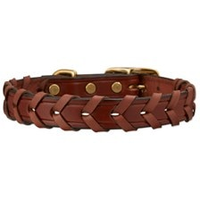 English Bridle Leather Laced Collar