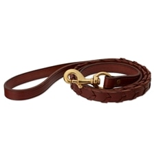 English Bridle Leather Laced Leash
