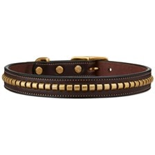 English Bridle Leather Clincher Collar