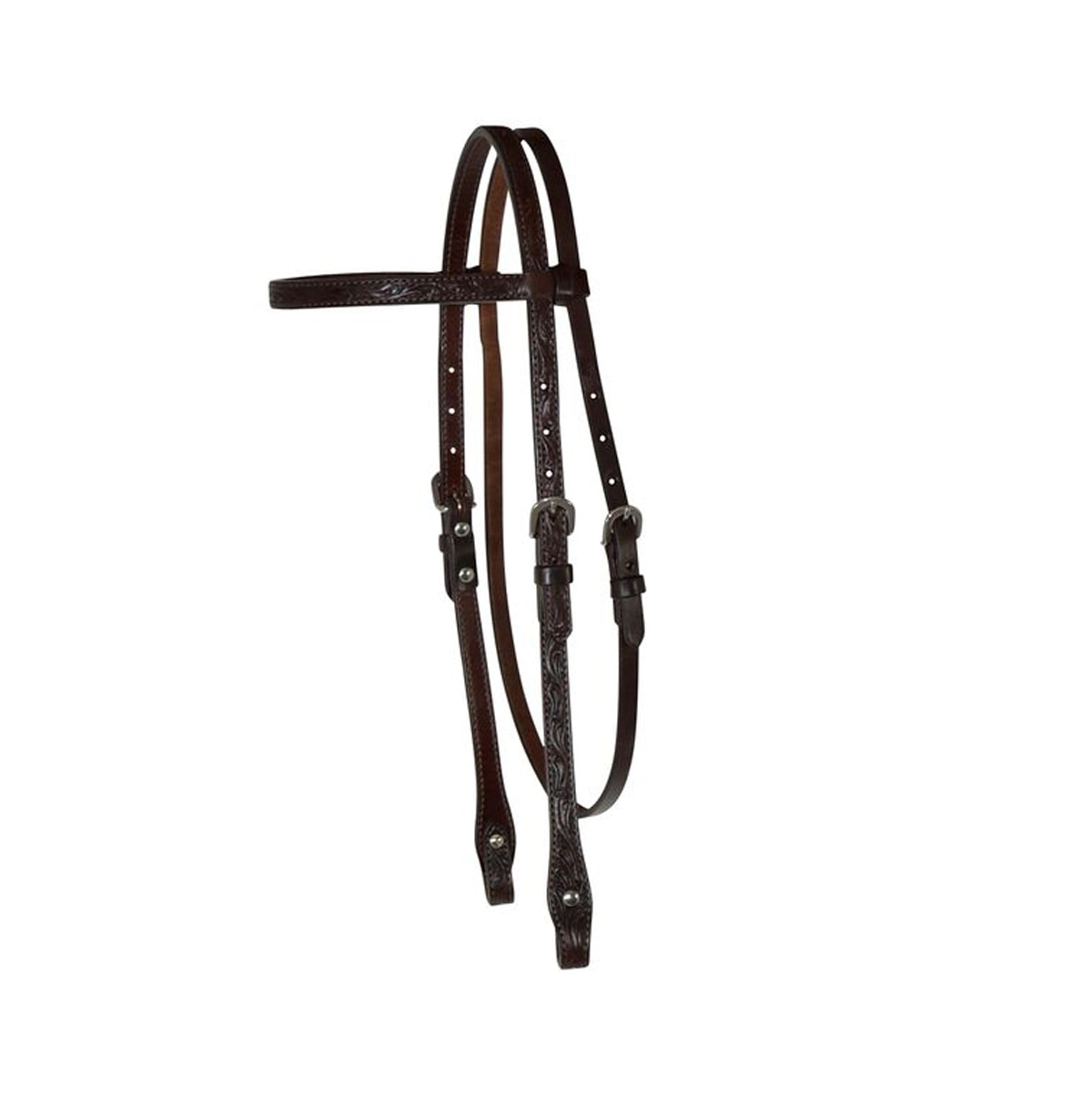 Circle Y Floral Tooled Browband Headstall