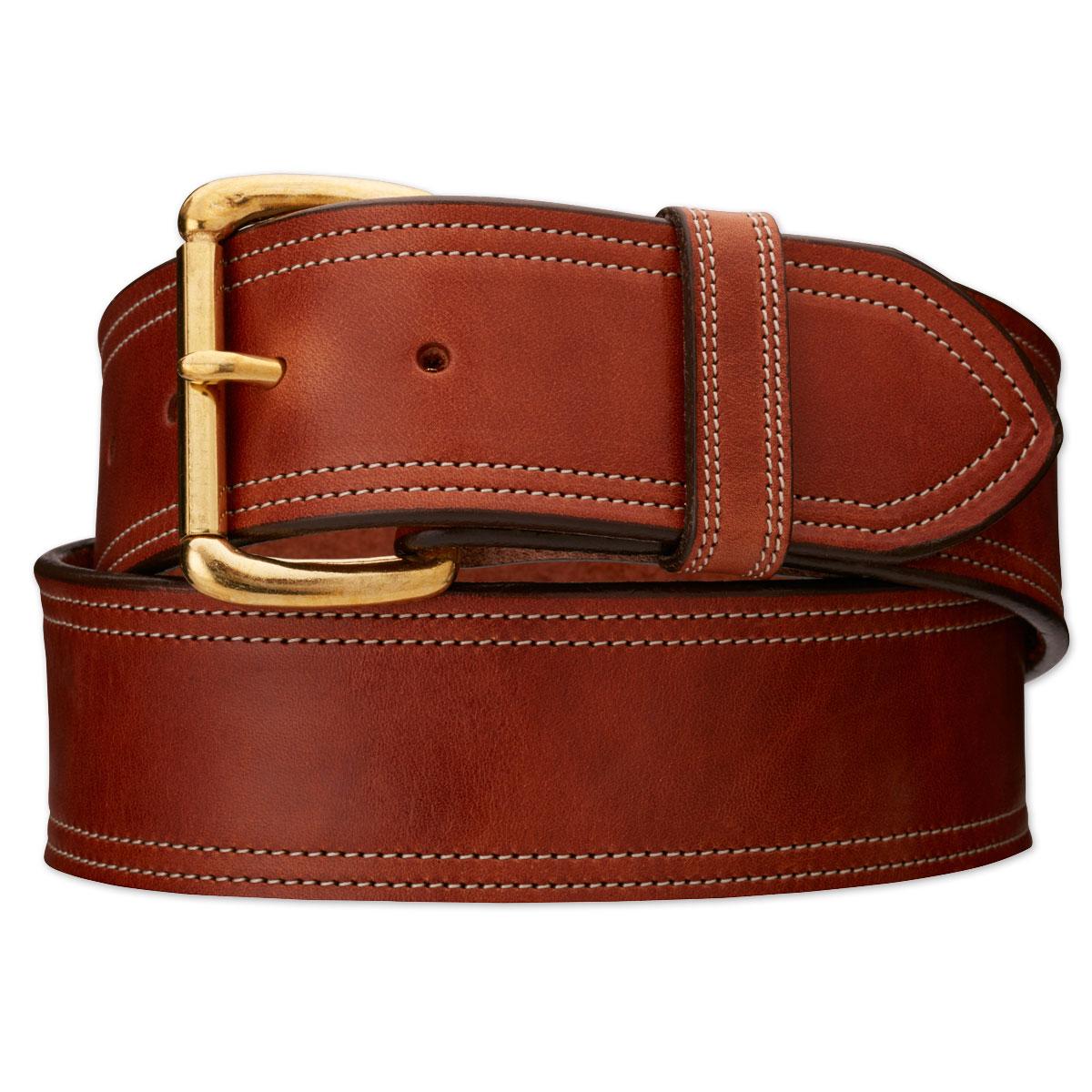 Tory Leather Trim Stitched Belt