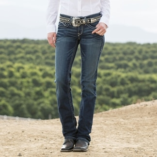Ariat Women's R.E.A.L. Straight Icon Jeans- Ocean