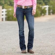 Wrangler Women's Mid Rise Straight Leg Jean