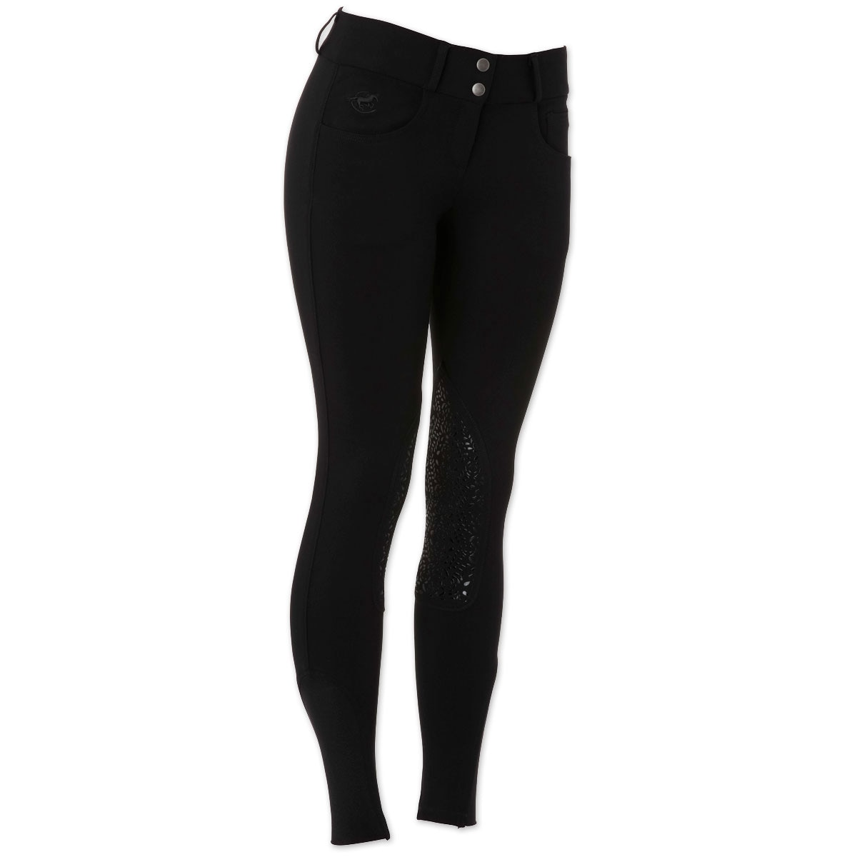 Piper Knit Breeches by SmartPak - Low Rise Knee Patch