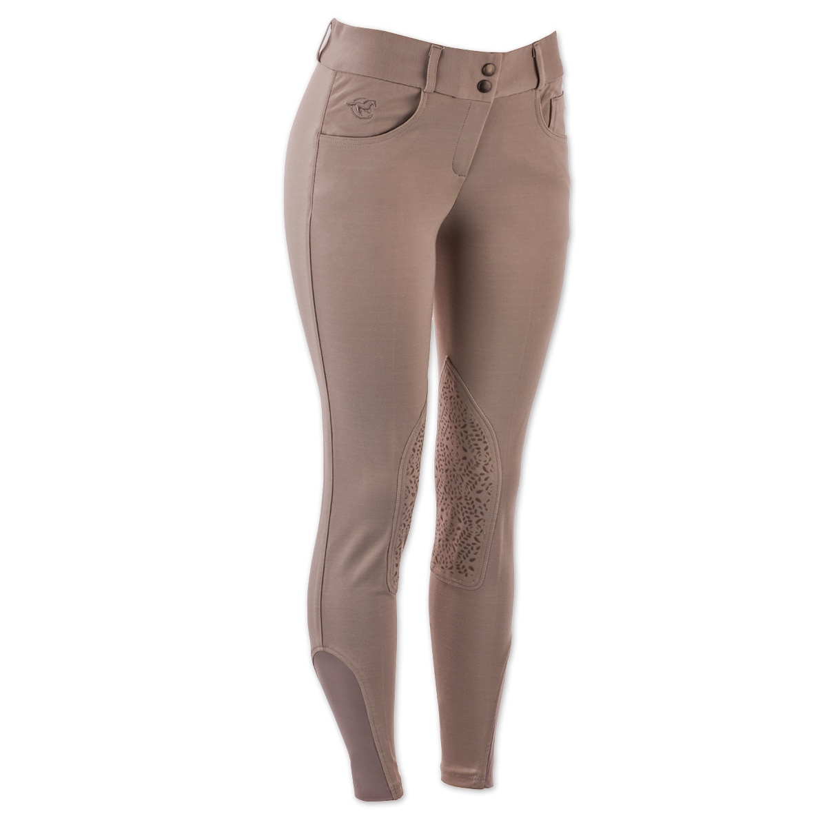 Piper Knit Breeches by SmartPak - Low Rise Knee Patch - Sale!
