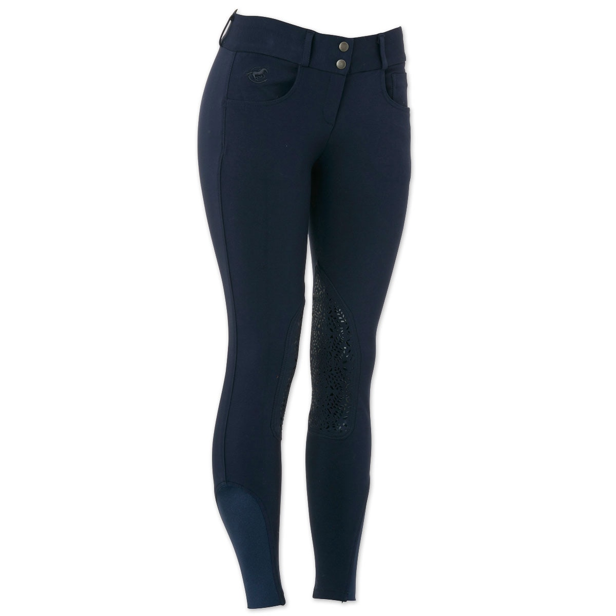 Piper Knit Breeches by SmartPak - Low Rise Knee Patch - Clearance!