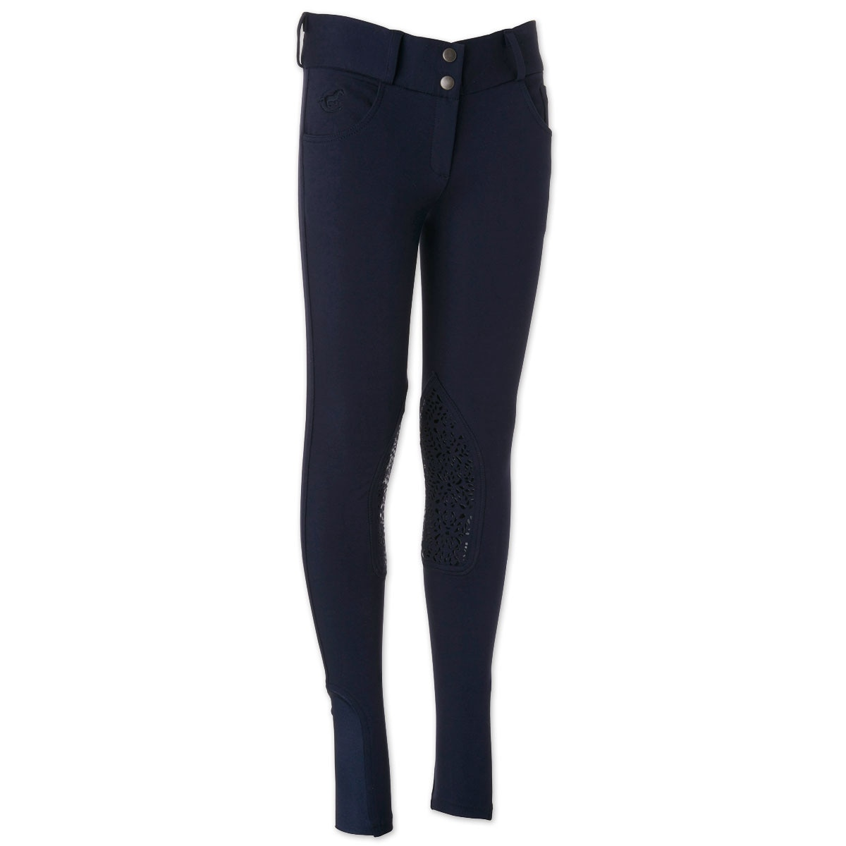 Piper Knit Breeches by SmartPak - Girls Knee Patch