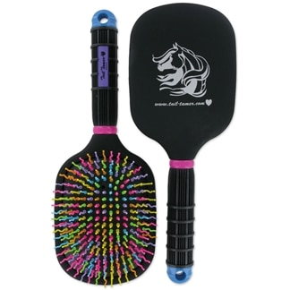 Tail Tamer's Rainbow Paddle Brush