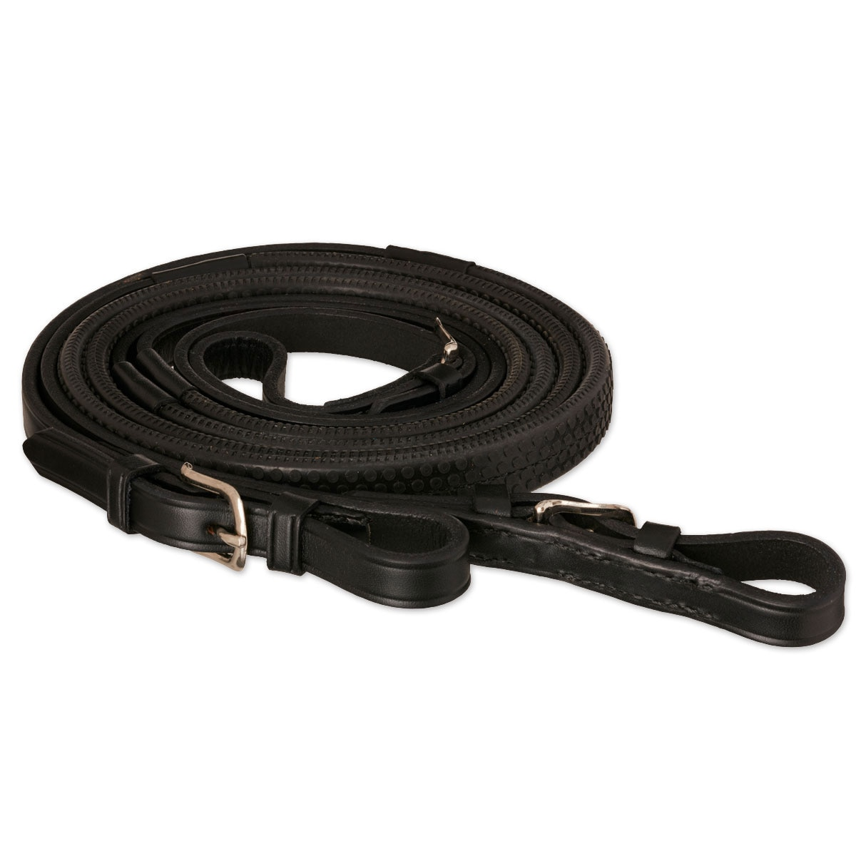 Tory Leather Rubber Grip Competition Reins