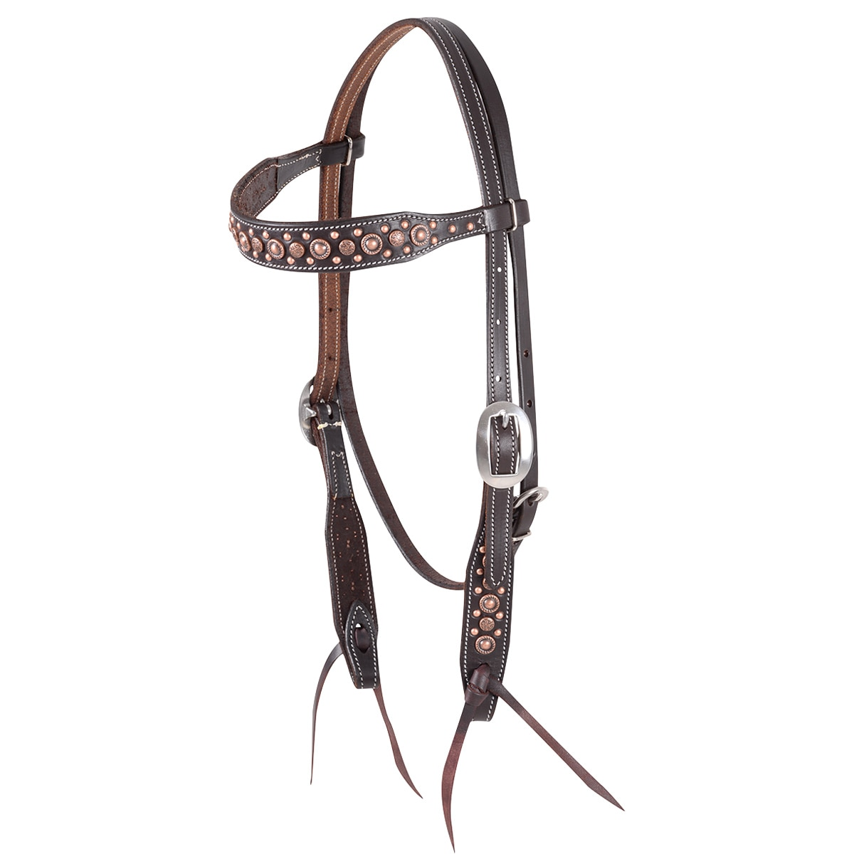 Martin Saddlery Antique Turquoise Dots Headstall