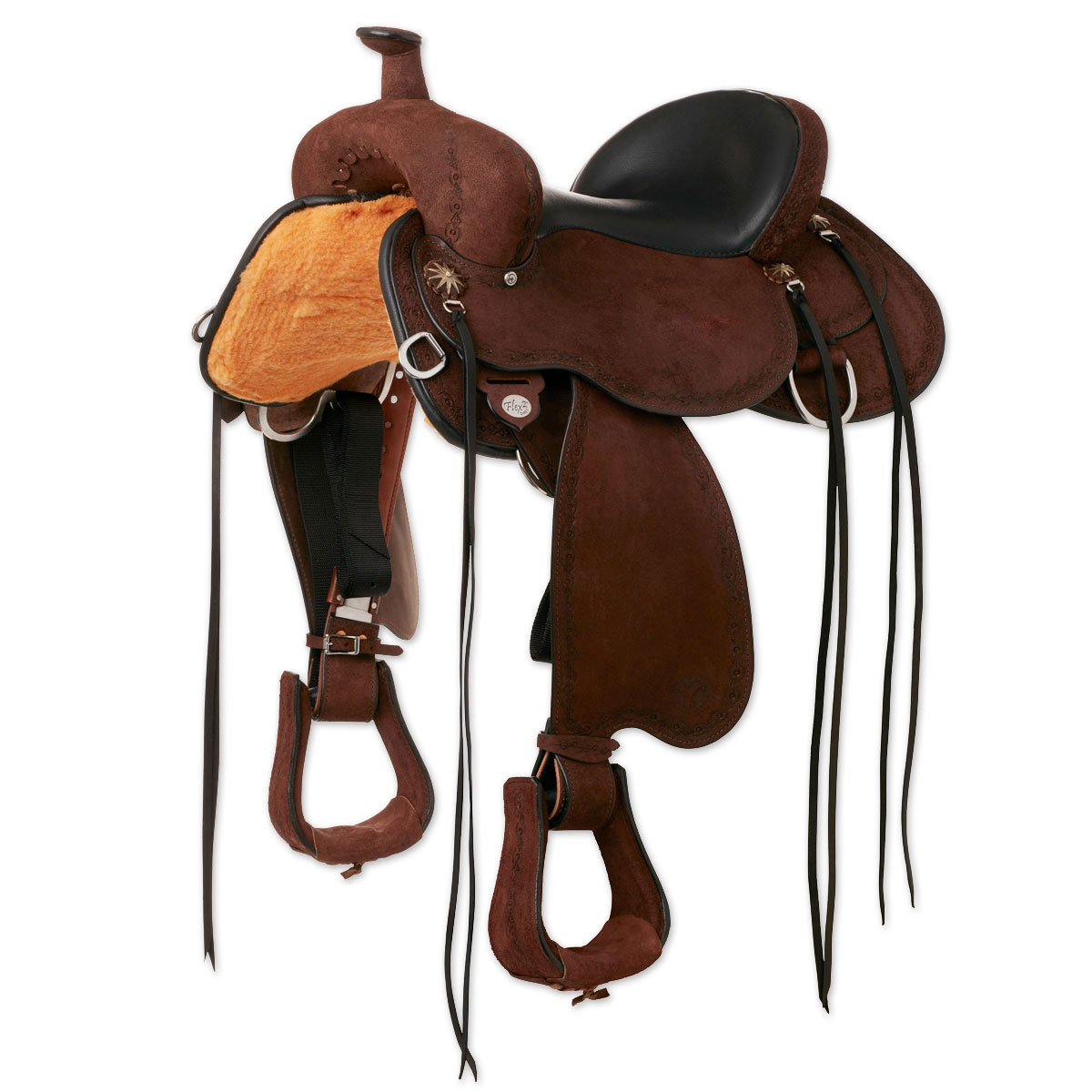 Circle Y Alpine Rough-Out Trail Saddle Made Exclusively for SmartPak