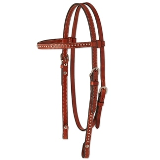 Circle Y Spot Accent Browband Headstall
