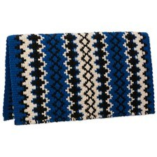 Mayatex Arroyo Seco Saddle Blanket- Royal Blue/Black