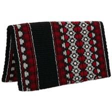 Mayatex Starlight Saddle Blanket- Black/Red