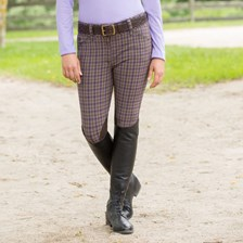 Piper Breeches by SmartPak- Plaid Knee Patch Breeches