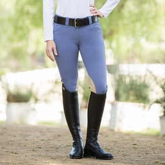 Piper Breeches by SmartPak- Tan Knee Patch