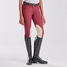 Hadley Mid-Rise Breeches by SmartPak - Knee Patch