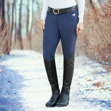 Piper Winter Softshell Breeches by SmartPak - Knee Patch