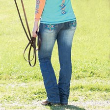 Cowgirl Tuff Bold Aztec Jeans