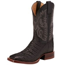 Justin Men's CPX Exotic- Black Caiman