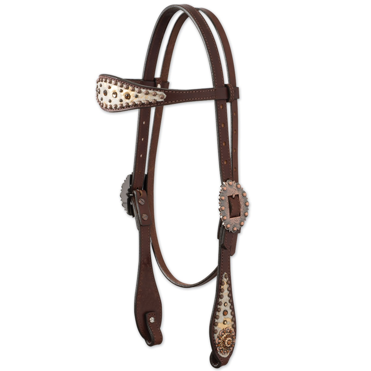 Weaver Gold Dust Browband Headstall