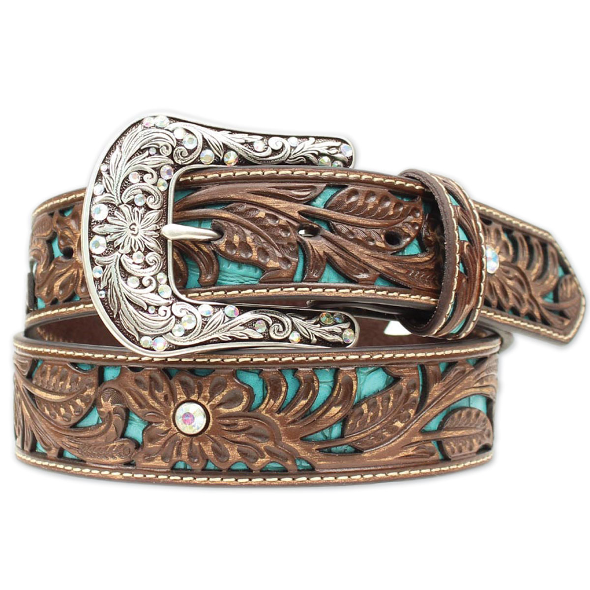 Ariat Women's Turquoise Overlay Belt