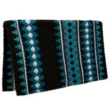 Mayatex Catalina Wool Saddle Blanket- Turquoise