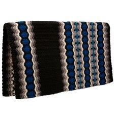 Mayatex Canyon Land Wool Saddle Blanket- Blue