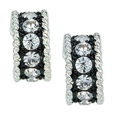Montana Silversmiths Crystal Shine Small Hoop Earrings