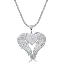 Montana Silversmiths Women's Angel Heart Silver Necklace