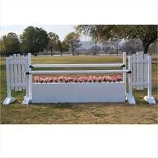 CJ-40 White Flower Box Oxer Jump
