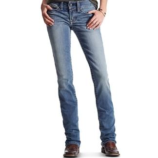 Ariat Women's R.E.A.L Straight Icon Jeans- Rainstorm