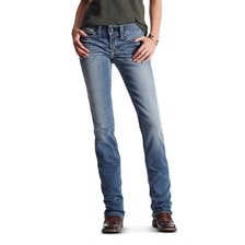 Ariat Women's R.E.A.L Straight Icon Jeans- Rainstorm