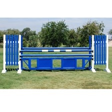 CJ-57 Blue Panel Oxer Jump