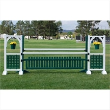 CJ-58 Picket Gate and Hanging Flower Oxer Jump