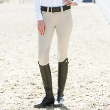 Piper Breeches by SmartPak - Show Front Zip Knee Patch