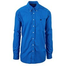 Cinch Men's Classic Fit Printed Button Down Shirt- Royal Blue