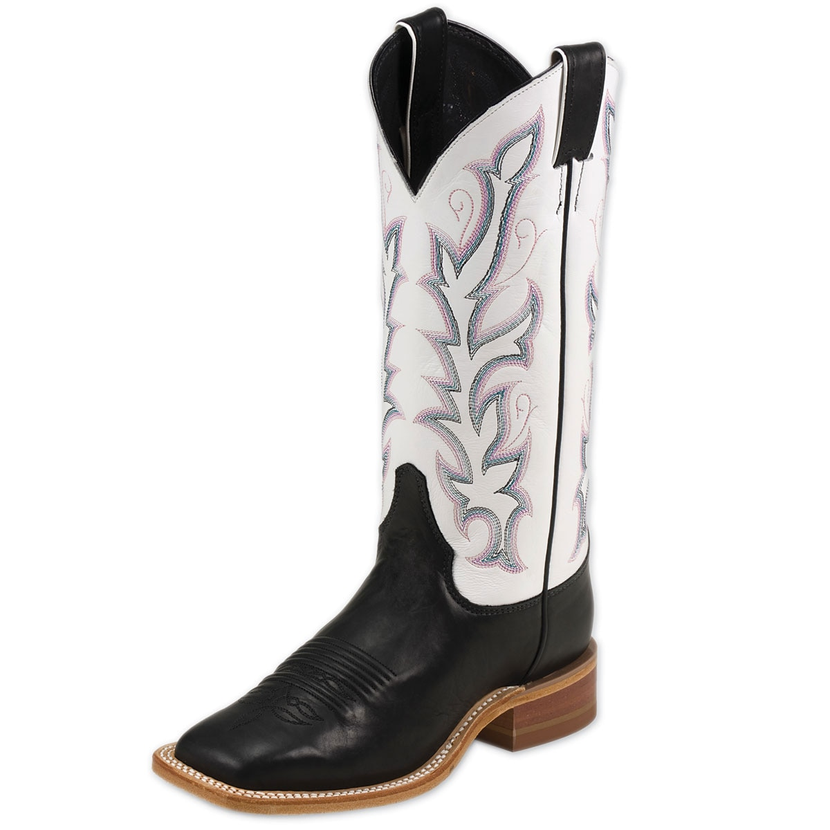 Justin Women's Bent Rail Boots- Albany Black