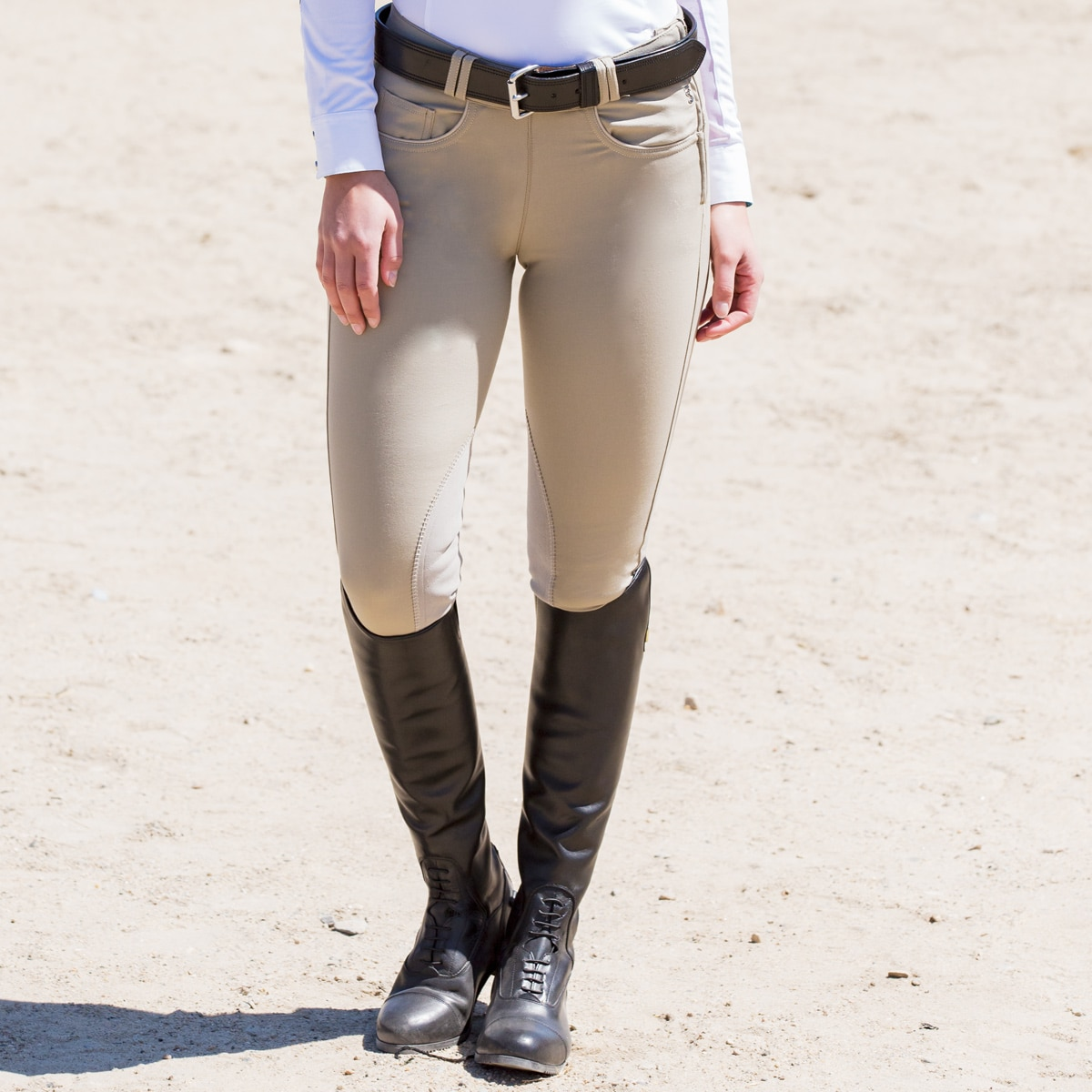 Tredstep Symphony Rosa II Knee Patch Breech- Side Zip
