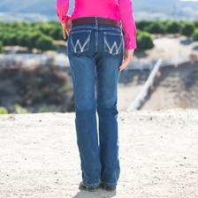 Wrangler Women's Ultimate Riding Q-Baby Jean with Cool Vantage