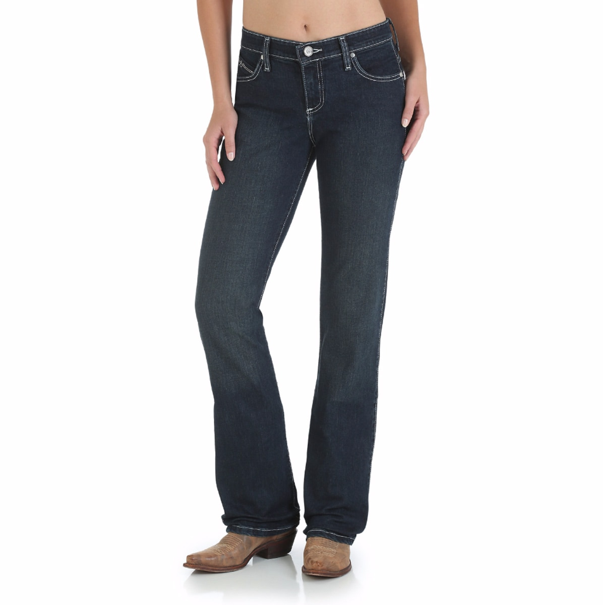 Wrangler® Women's Ultimate Riding Jeans Q-Baby- AU Wash