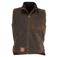 Outback Sawbuck Light Weight Oilskin Waterproof Vest